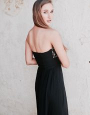 Black Lilian boobtube maxi dress 1 (2)