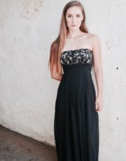 Black lilian boobtube maxi dress (3)