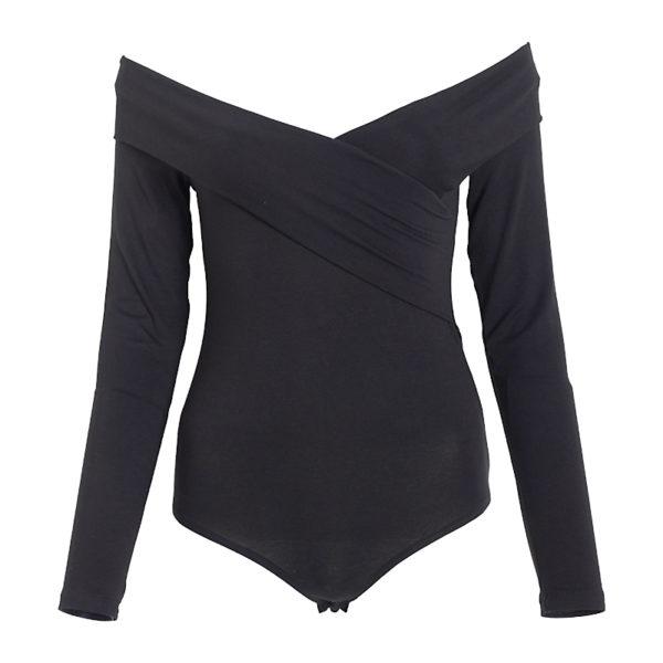 Black bardot bodysuit- 278.8283 R499