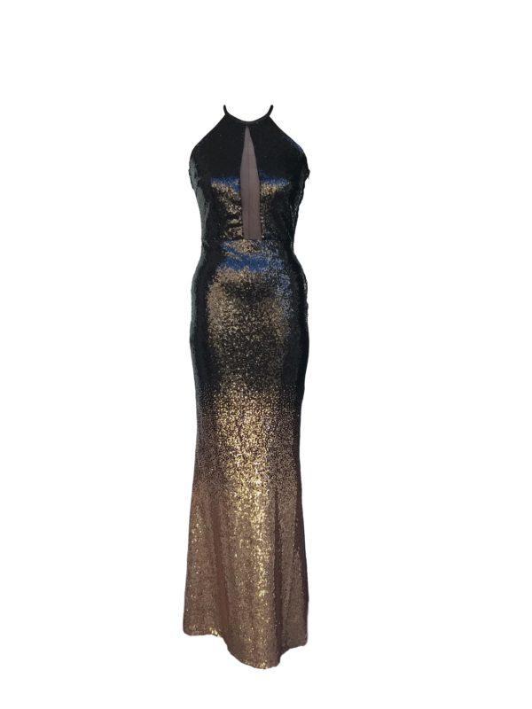 Black bronze ombre seq dress- 278.8259 R1300