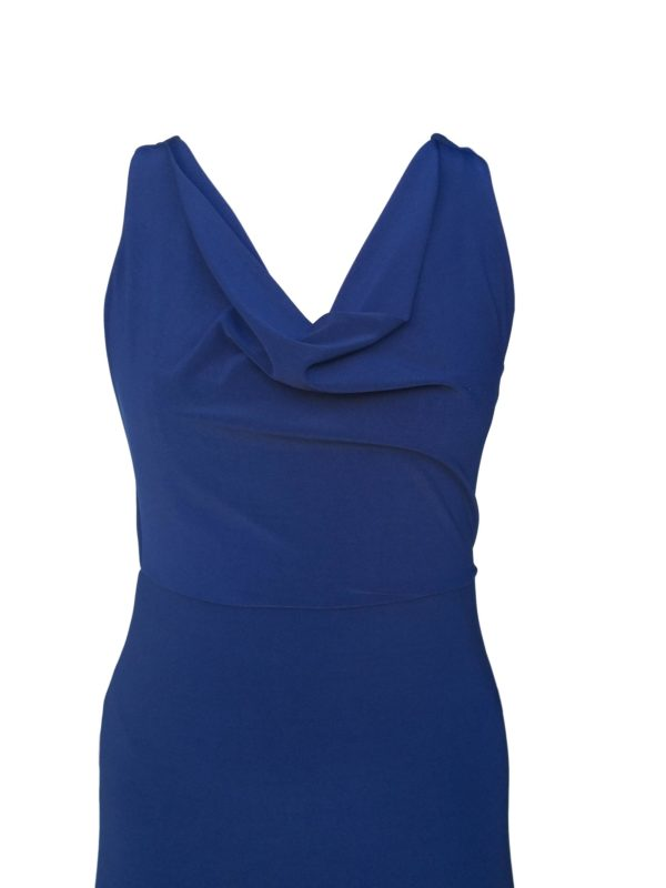 Navy cowl lace insert dress- 278.8260- R799 no.2